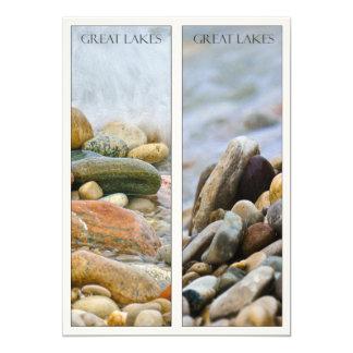 Great Lakes Beach Stones Nature Art Bookmark Card