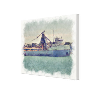 Great Lakes Freighter Canvas Print