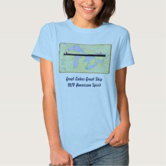 Great Lakes Great Ship American Spirit T-shirt