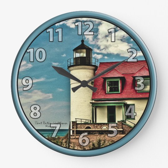 Great Lakes Pt. Betsie Lighthouse on Lake Michigan Clocks