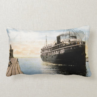Great Lakes Steamer Puritan Macatawa Michigan Lumbar Pillow