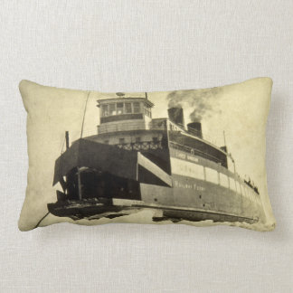Great Lakes Steamship Chief Wawatam in the Ice Lumbar Pillow