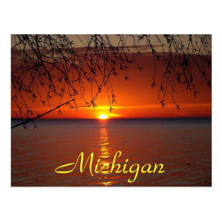 Great Lakes Sunset by Bobby Mikul Postcard