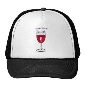 GREAT LEGS...wine print by jill Trucker Hat