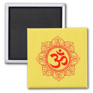 GREAT MAGNET GIFT! OM IN CHAKRA PETALS