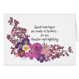 Great marriages are made in heaven! card