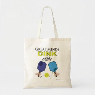 """""""Great Minds Dink Alike"""" Pickleball Tote Bag"""