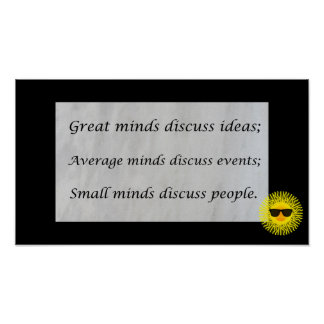 Great minds discuss ideas; poster