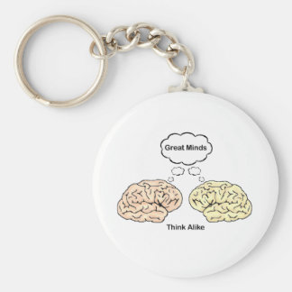 Great Minds Think Alike Keychain