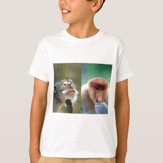 Great minds think alike macaque proboscis monkeys T-Shirt