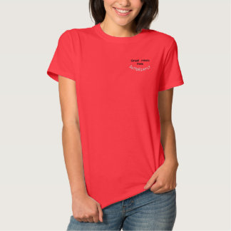 great minds think differently embroidered shirt