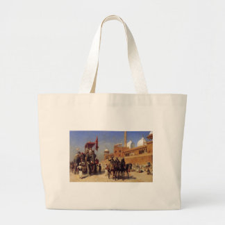Great Mogul And His Court Returning From The Great Large Tote Bag