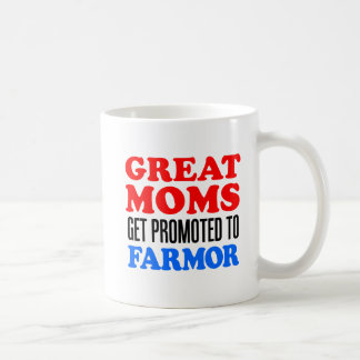 Great Moms Get Promoted To Farmor Coffee Mug