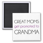 Great Moms Get Promoted To Grandma Square Magnet