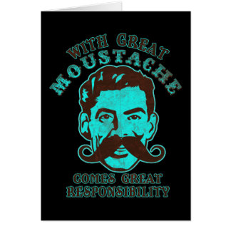 Great Moustache Greeting Card