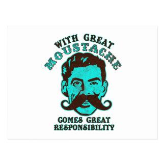 Great Moustache Postcard
