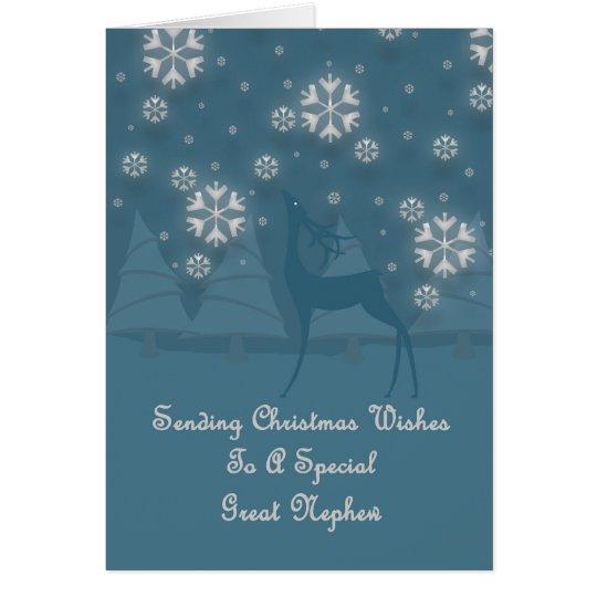 Great Nephew Reindeer Christmas Card