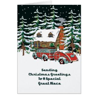 Great Niece Christmas Greetings Card