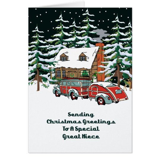 Great Niece Christmas Greetings Card
