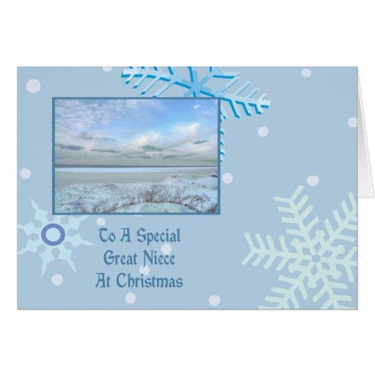 Great Niece Winter Lake Christmas Card