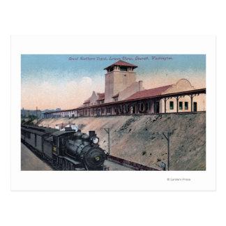 Great Northern Railroad Depot 2 Postcard