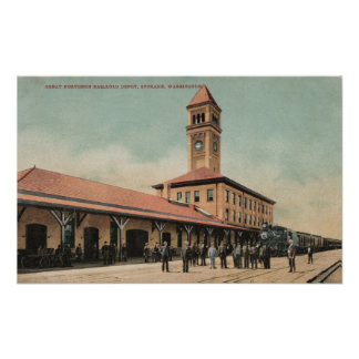 Great Northern Railroad Depot Poster