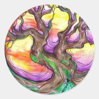 great oak elder round sticker