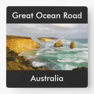 Great Ocean Road Australia Square Wall Clock