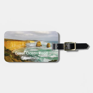 Great Ocean Road Luggage Tag w/ leather strap