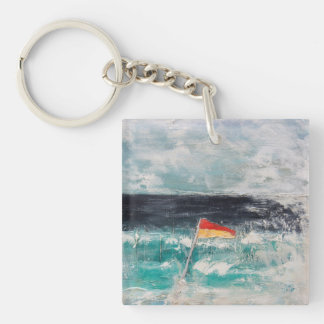 Great Pacific Pty Ltd Single-Sided Square Acrylic Keychain