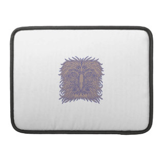 Great Philippine Eagle Head Mono Line Sleeve For MacBook Pro