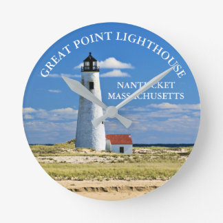 Great Point Lighthouse Nantucket MA Clock