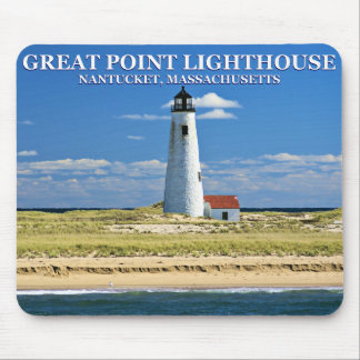 Great Point Lighthouse, Nantucket, MA Mousepad