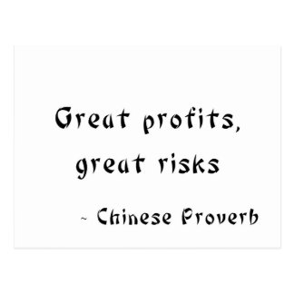 Great Profits, Great Risks Postcard