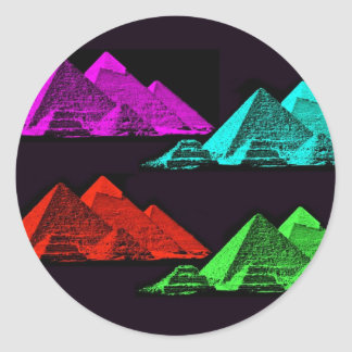 Great Pyramid of Giza Collage Classic Round Sticker