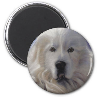 Great Pyrenees 2 Inch Round Magnet