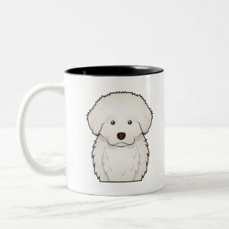 Great Pyrenees Cartoon Two-Tone Coffee Mug