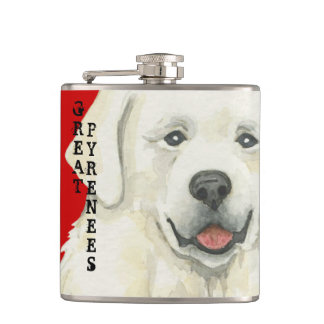 Great Pyrenees Color Block Flasks