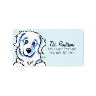 Great Pyrenees Custom Color Label