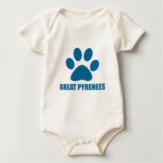 GREAT PYRENEES DOG DESIGNS BABY BODYSUIT