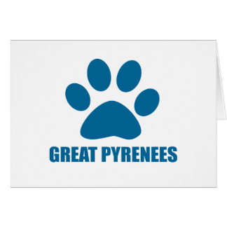 GREAT PYRENEES DOG DESIGNS CARD