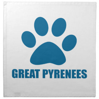 GREAT PYRENEES DOG DESIGNS NAPKIN