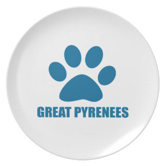 GREAT PYRENEES DOG DESIGNS PLATE