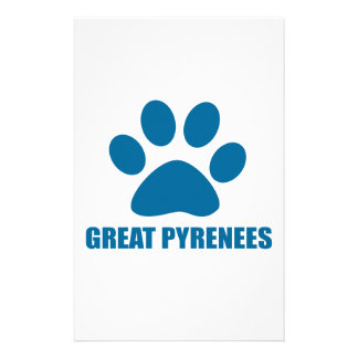 GREAT PYRENEES DOG DESIGNS STATIONERY