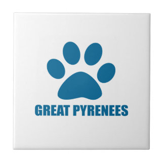 GREAT PYRENEES DOG DESIGNS TILE