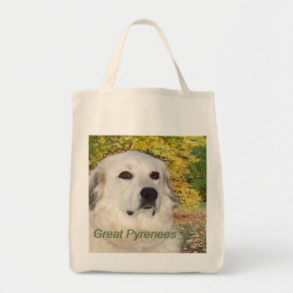 Great Pyrenees Fall Watercolor Tote