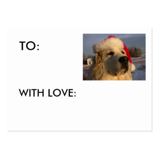 Great Pyrenees GIFT TAG - WITH LOVE: Pack Of Chubby Business Cards