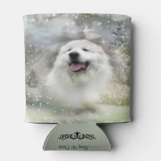 Great Pyrenees Holiday/Winter Scene Can Cooler