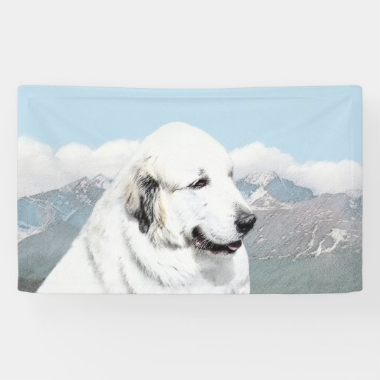 Great Pyrenees Painting - Original Dog Art Banner