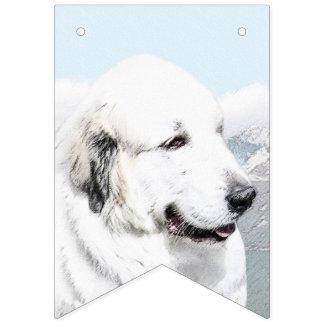 Great Pyrenees Painting - Original Dog Art Bunting Flags
